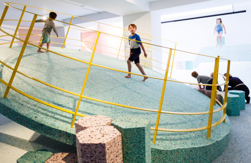 Bouncing around The Brutalist Playground by Assemble and Simon Terrill