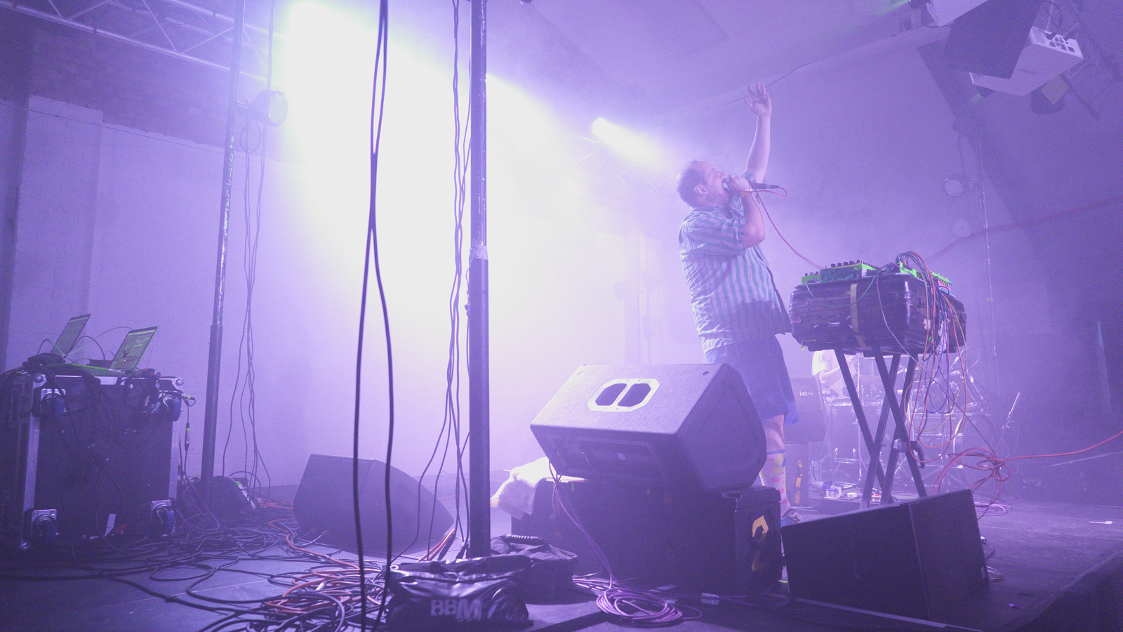 Dan Deacon live at The Oval Space. Photography: Carys Huws