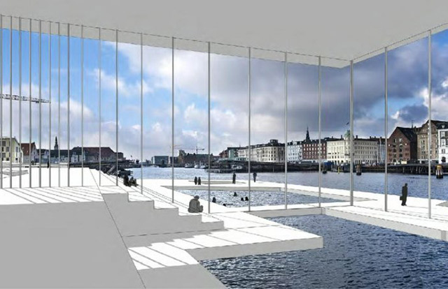 One of the proposals for Paper Island in Copenhagen. Photography: Brian Lottenburger and Anders Ojgaard