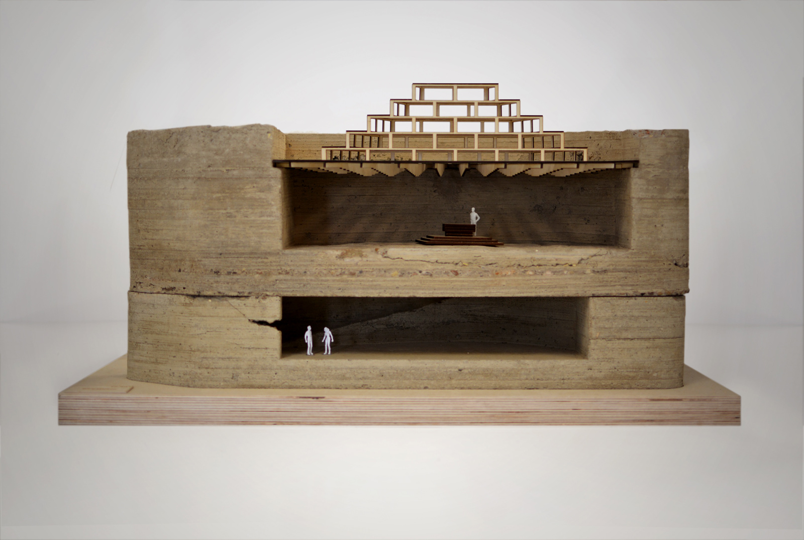 Model of St Peter's seminary by NORD Architecture, courtesy of NVA
