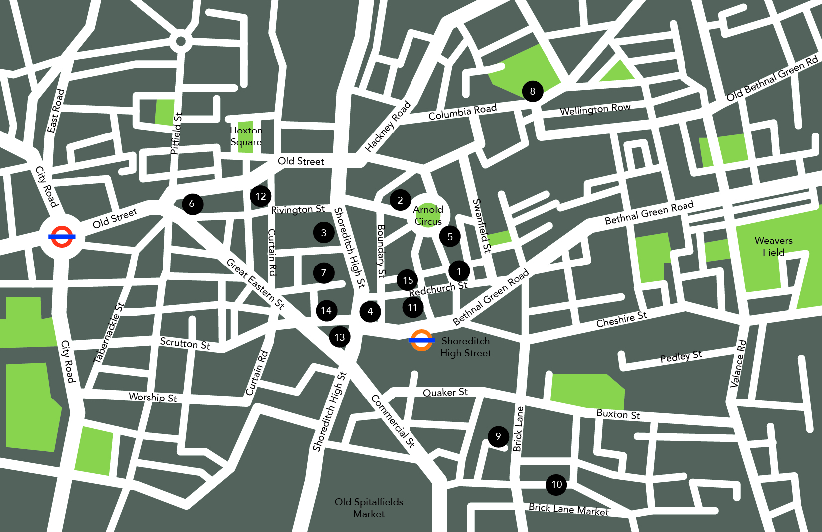 Shoreditch Map with number Alice Ralph-01