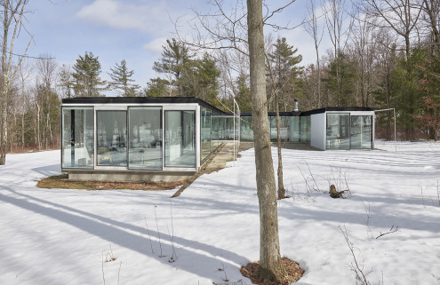 House of the week: the glass Gefter-Press House in Upstate New York