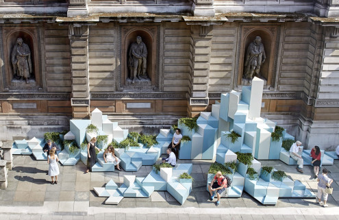 SO? Architecture and Ideas creates a ceramic hill at the Royal Academy
