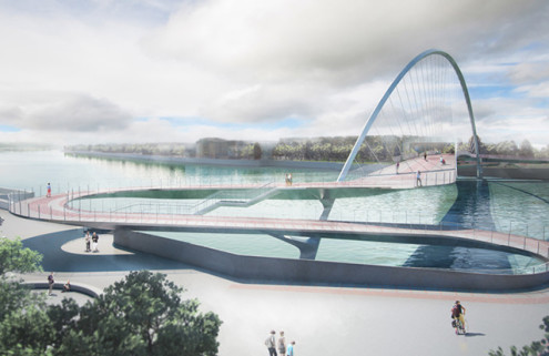 Shortlisted designs revealed for Nine Elms to Pimlico bridge