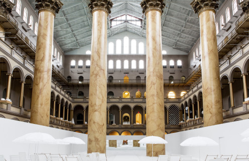 Snarkitecture brings a beach to DC's National Building Museum