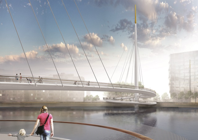 Nine Elms to Pimlico bridge proposal by Bystrup Architecture Design and Engineering