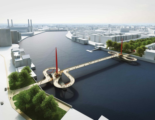 Proposal by Hopkins Architects, together with Ove Arup and Partners and Grant Associates