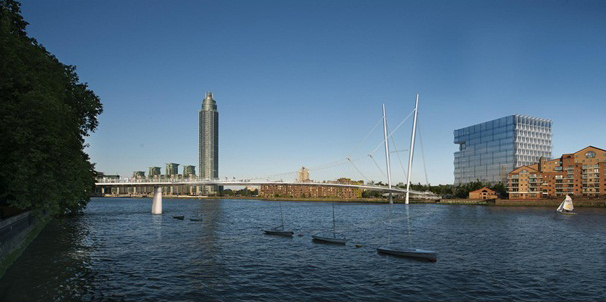 Proposal by Marks Barfield Architects; with Buro Happold, J&L Gibbons Landscape Architects, and Gardiner and Theobald