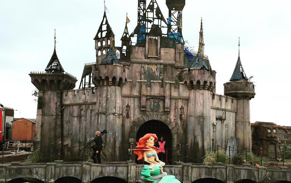 First Look Banksy S Dismaland Park In Weston Super Mare