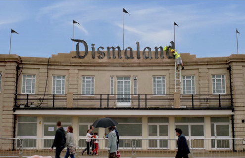 Banksy spoofs Disney adverts with Dismaland video