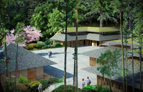 Kengo Kuma designs new 'Cultural Village' for Portland's Japanese Garden