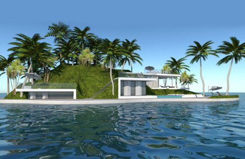 Christie's are selling private floating islands