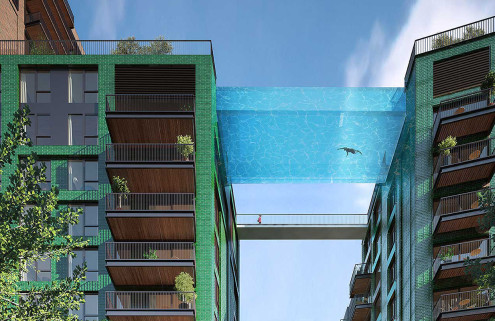 London's Nine Elms set for a swimming pool in the sky