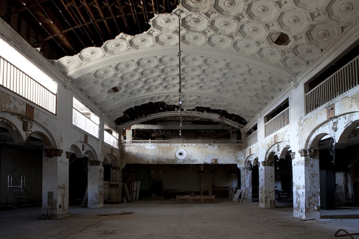 Inside Stony Island Bank, Chicago. Photography: Sarah Pooley, courtesy of the Rebuild Foundation