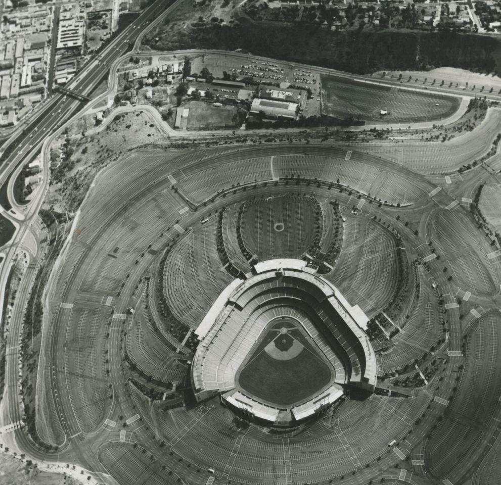 Ed Ruscha. Dodgers Stadium, 1000 Elysian Park Ave., 1967/1999. © Ed Ruscha. Courtesy of the artist and Gagosian Gallery.