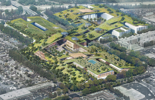 Rafael Viñoly plans world's largest rooftop park for Silicon Valley