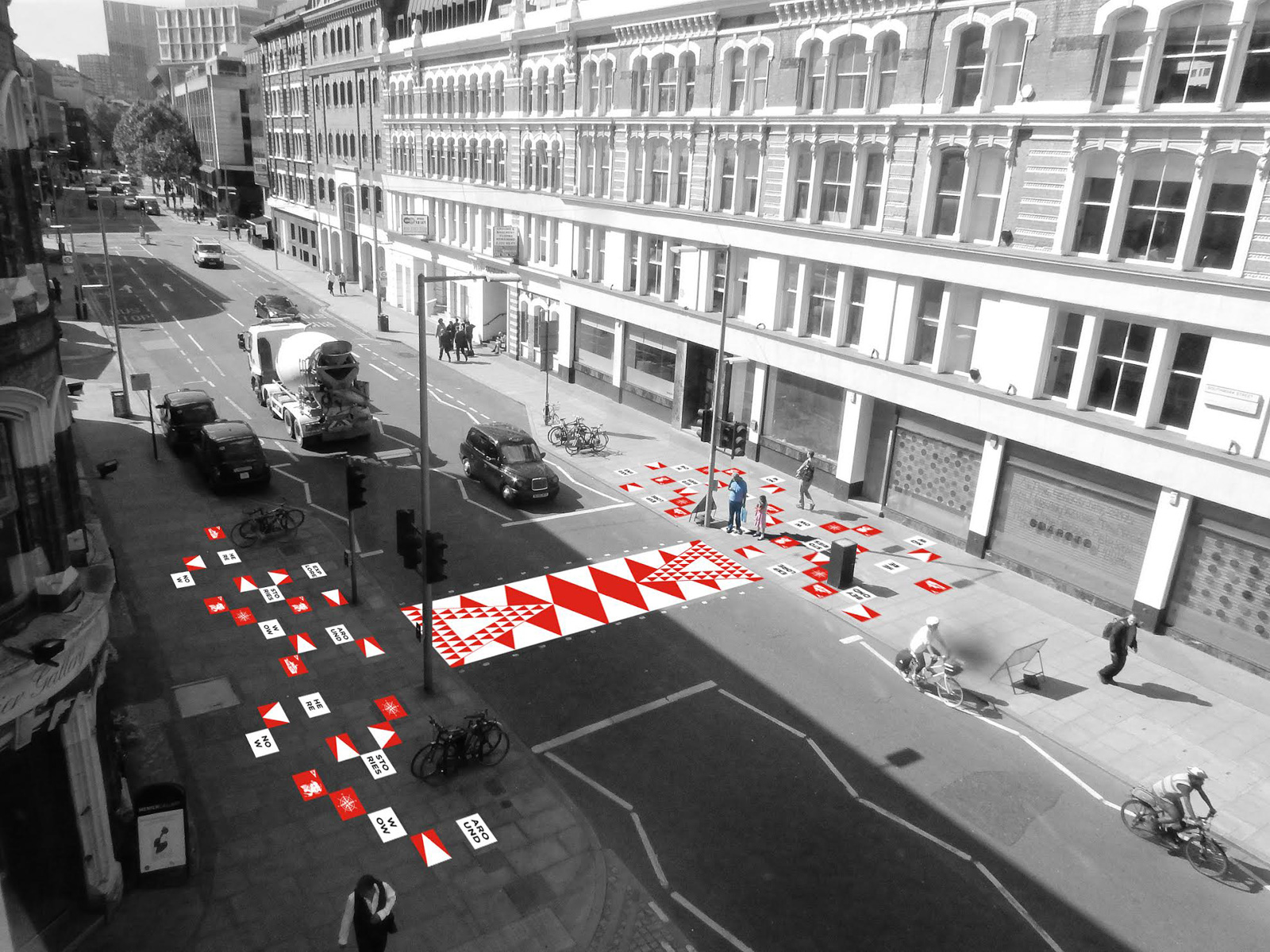 Gonzague Lacombe's proposal for Colourful Crossings. Courtesy of the London Design Festival