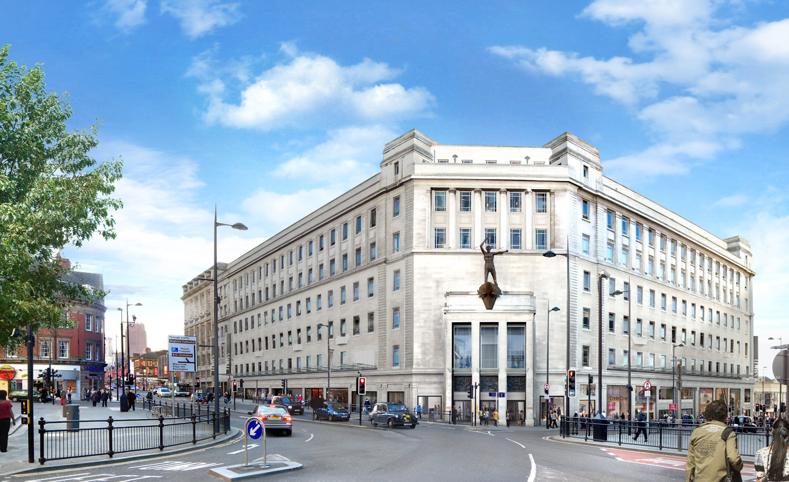 Lewis's Department store is now know as The Department, part of the Central Village scheme. Courtesy of Merepark