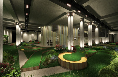 Crazy golf club comes to WWII bunker in the City of London