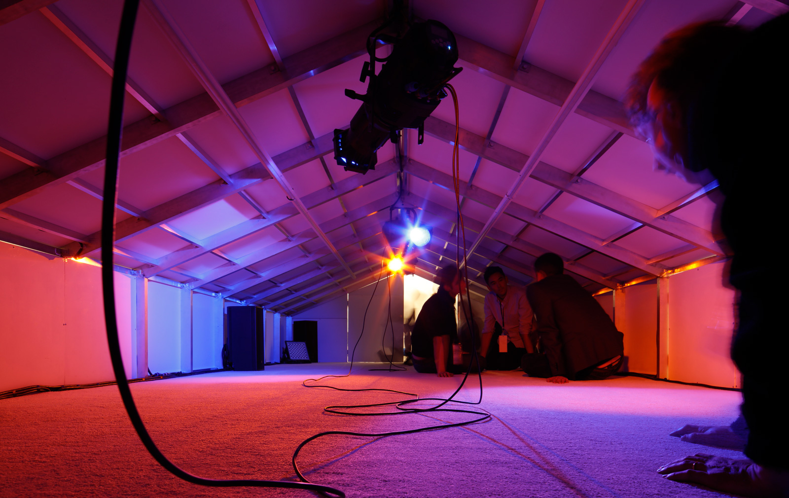 Inside Rachel Rose's miniature Frieze tent. Photograph: Lewis Ronald / Frieze