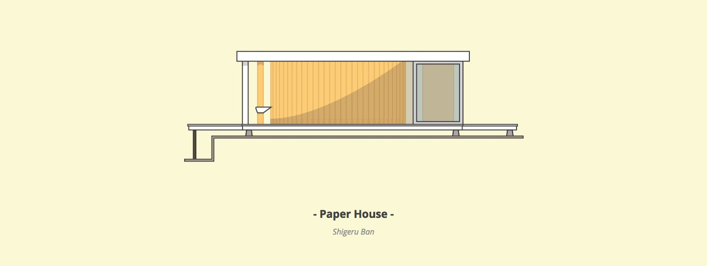Shigeru ban picture window house plans for Paper house planner