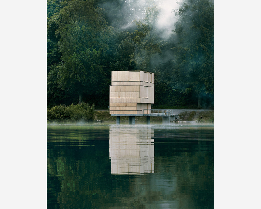 Lake Rotsee Refuge, by Andreas Fuhrimann & Gabrielle Hächler