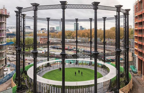 King's Cross gasholder opens as a public park