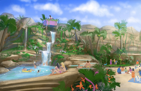 London could get a tropical paradise called Summerland with DJs and a 40-foot waterfall