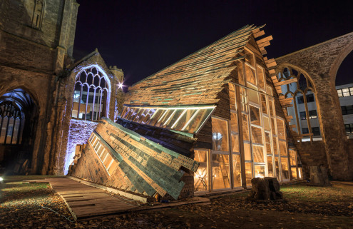 Theaster Gates gives a new beat to a bombed-out Bristol church