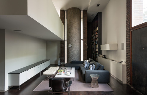 Architects' home inside the former Barbican Estate Office goes on sale