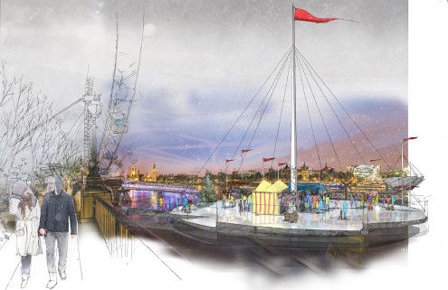 NBBJ wants to freeze the River Thames for ice skating
