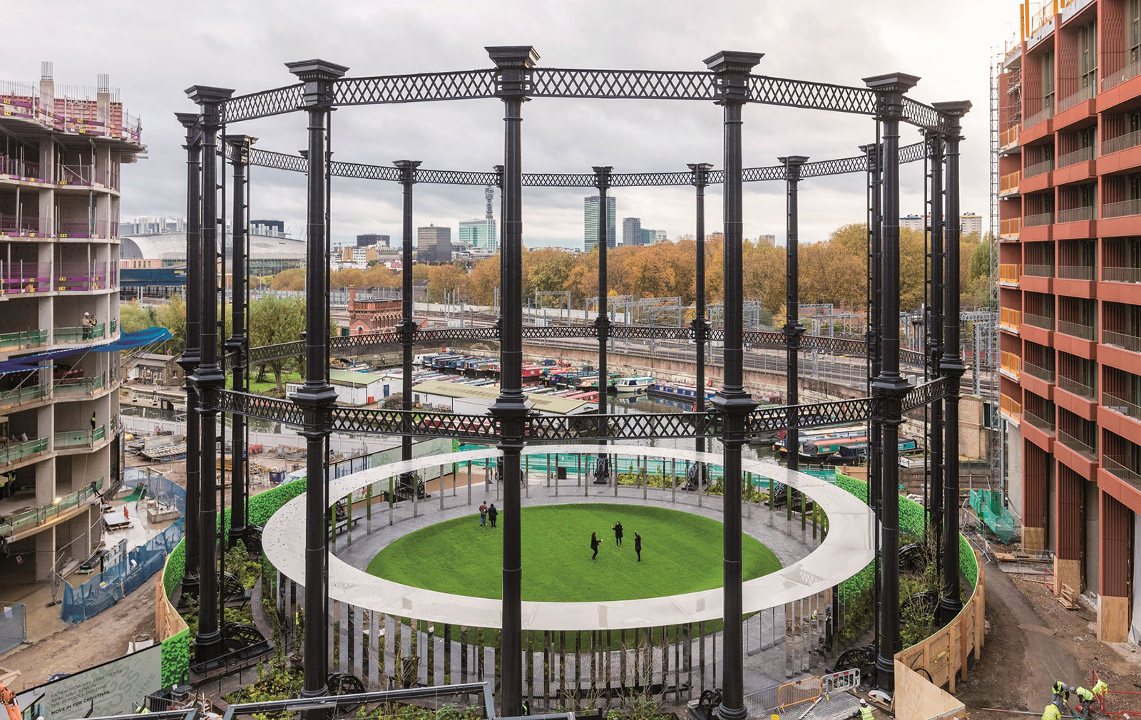 King's Cross Gasholder Park adaptive reuse