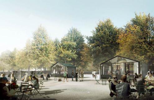 Arne Jacobsen's 'lost' pavilions will be recreated in a Copenhagen park