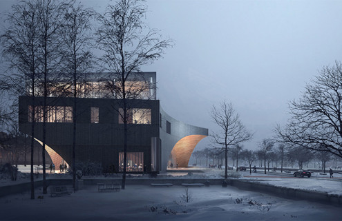 Snøhetta takes cues from ancient Greek academies for Temple University Library design
