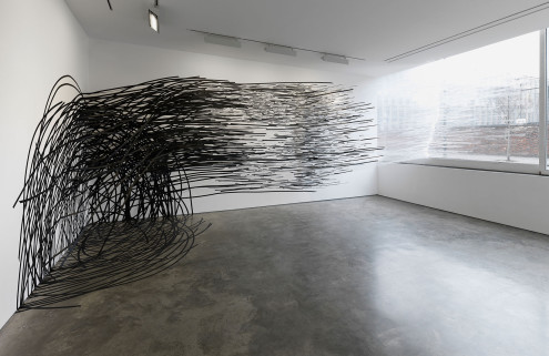 Lines leap off the wall in London's Lisson Gallery
