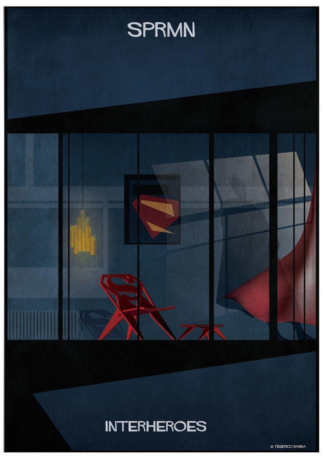 What superheroes' homes look like – in the eyes of