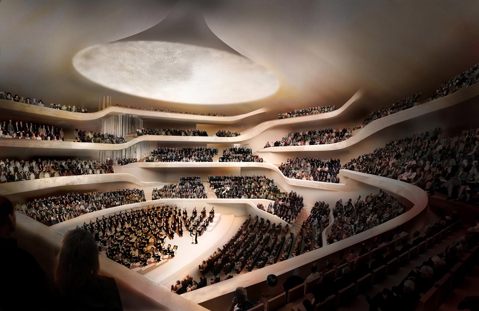 Illustration of the Grand Hall © Herzog & de Meuron