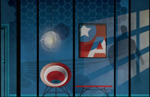 What superheroes' homes look like – in the eyes of illustrator Federico Babina