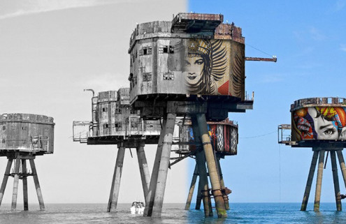 Street artists want to paint Kent's WWII Redsand Sea Forts
