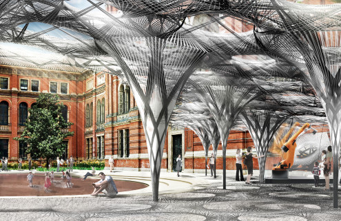 Robots will build a pavilion at London's V&A