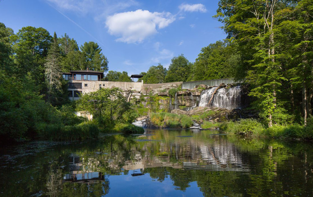 Property Of The Week A House Built Above A Waterfall In