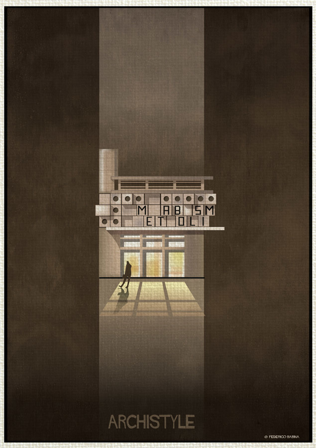 Federico babina illustrates a guide to architectural for Architectural styles guide
