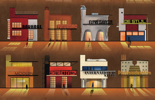 Federico Babina illustrates a guide to architectural styles of the past few decades