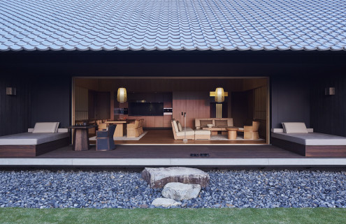 Amanemu is a contemporary take on traditional Japanese hot spring resorts