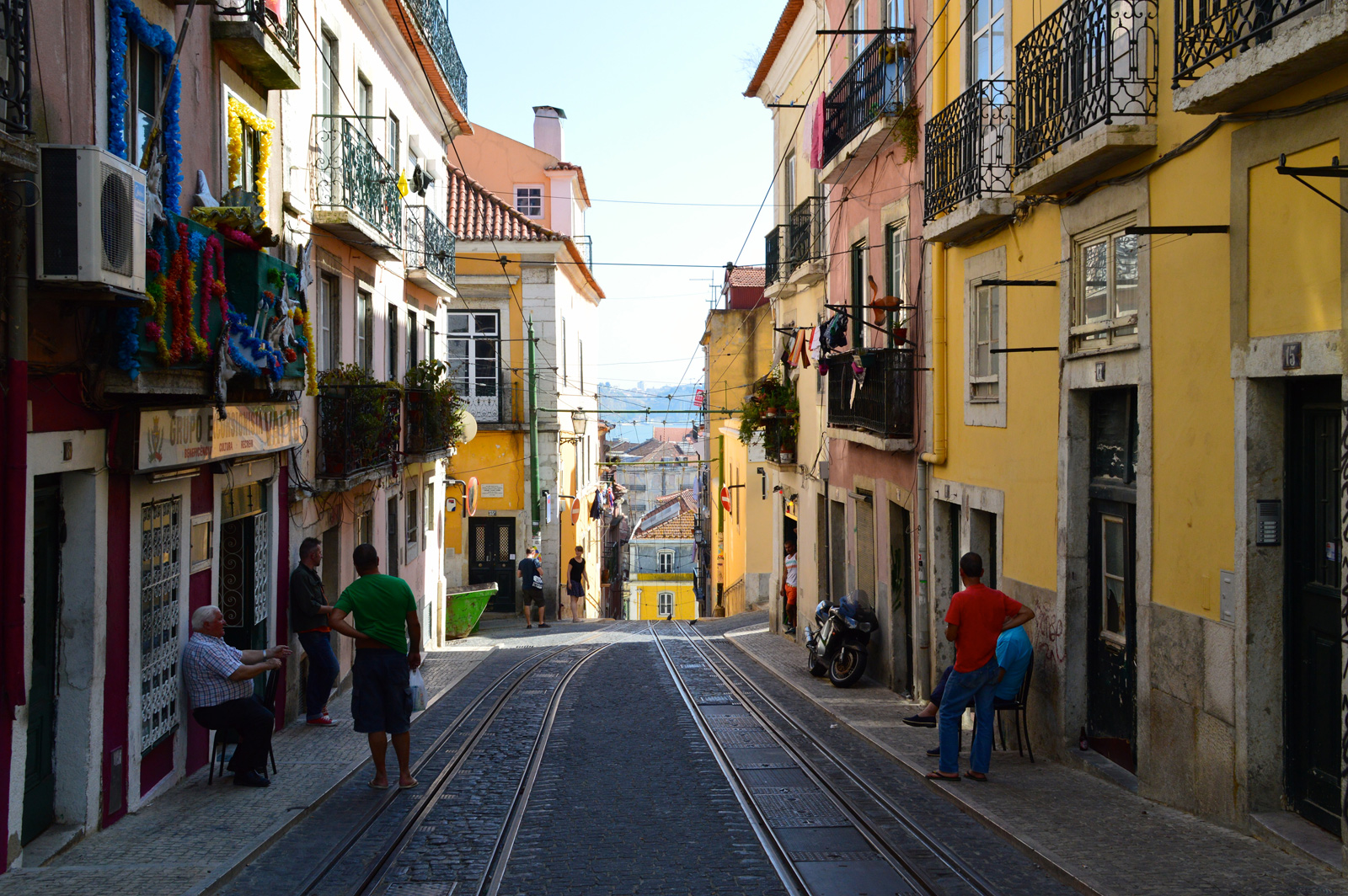 Bairro Alto streetscape, Lisbon