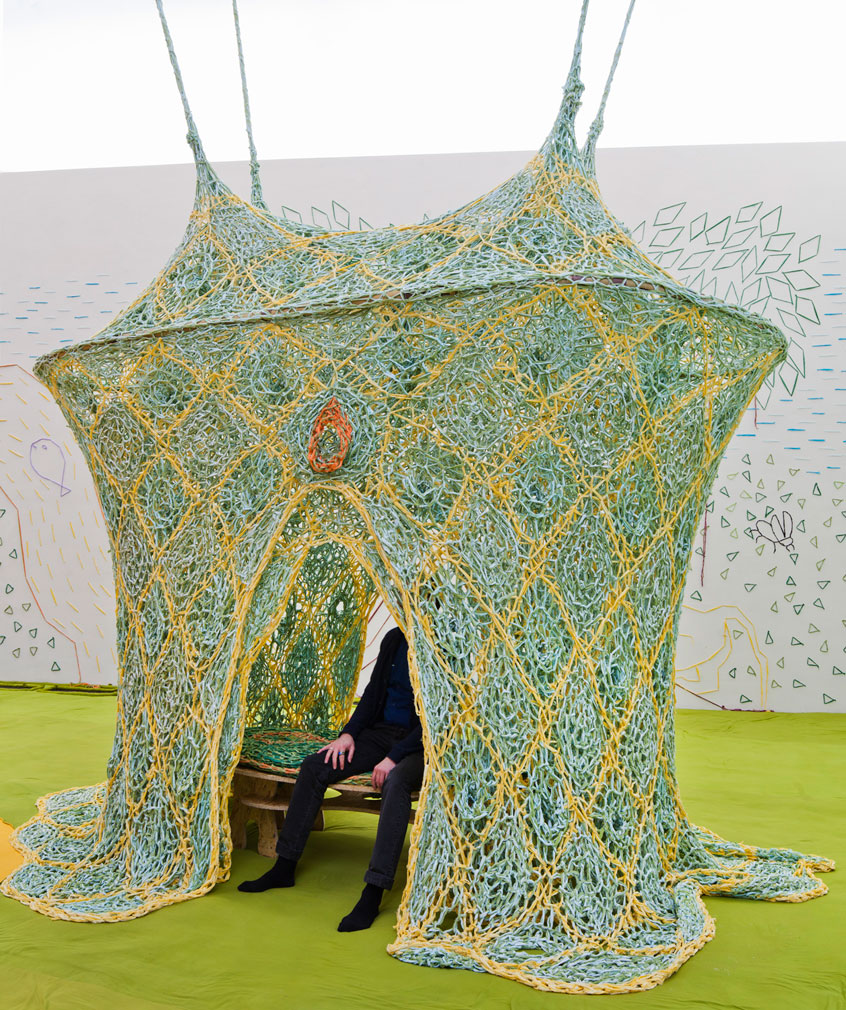 Ernesto Neto's 'Casa de cura (Healing House)', 2016. Photography: Petri Virtanen, Kansallisgalleria / Finnish National Gallery
