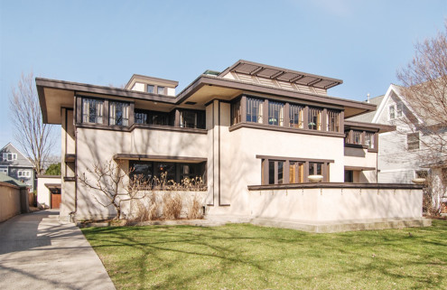 Frank Lloyd Wright's restored Oscar B Balch House in Chicago hits the market