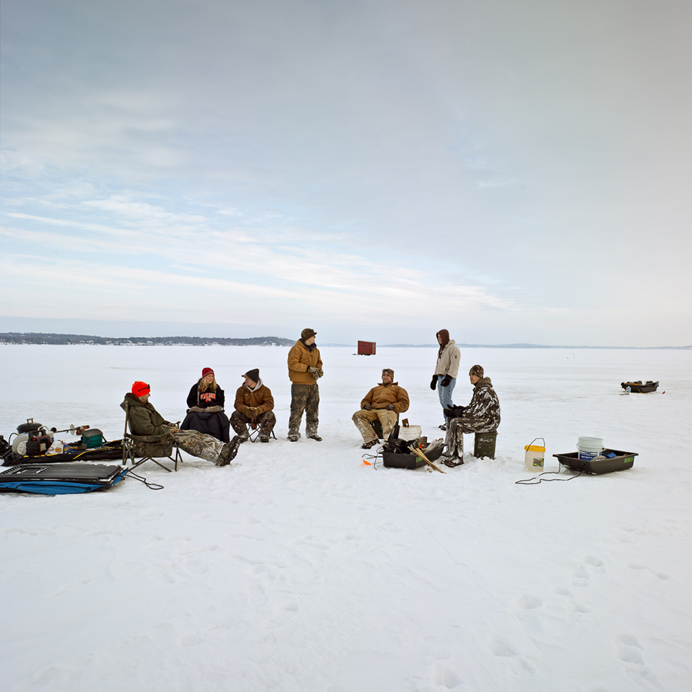 Mike rebholz photographs the ice fishing huts of wisconsin for Fishing in wisconsin