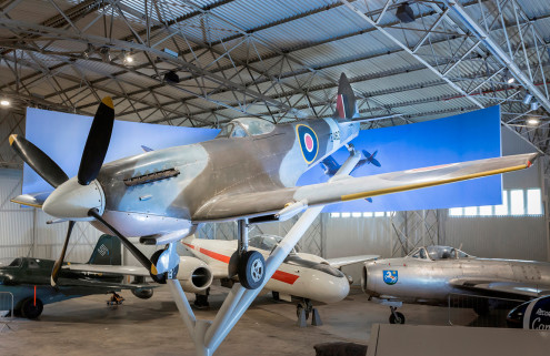Restored WWII hangars open at Scotland's National Museum of Flight