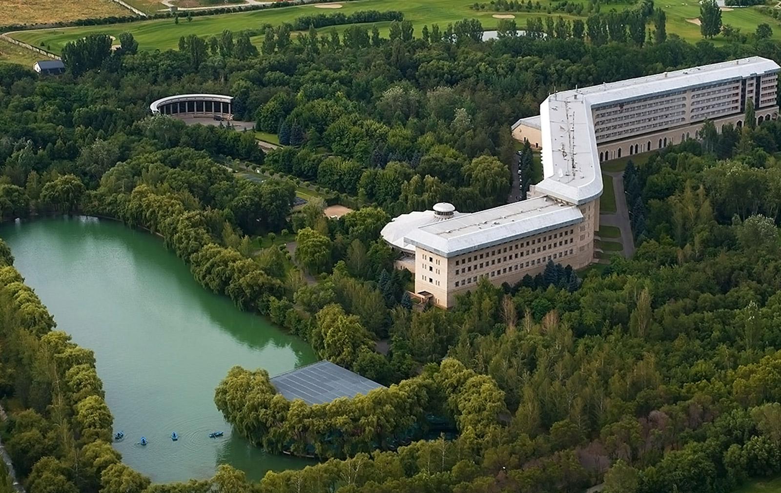 Alatau Sanatorium in Almaty, Kazakhstan.